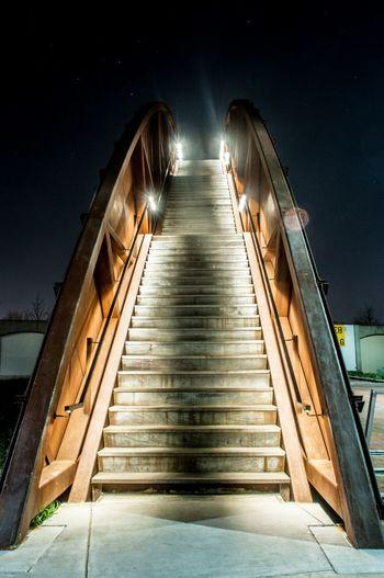 Stairs Long Exposure Night Glow
