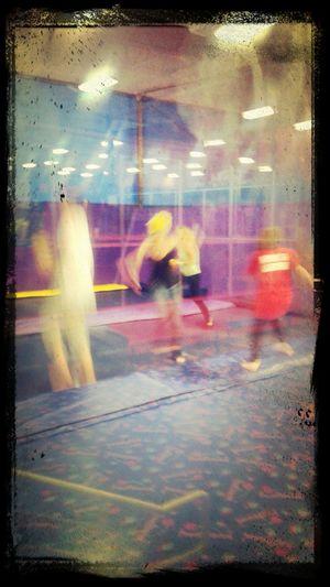 Through The Glass Motion Blur Catching A Show Dodge Ball