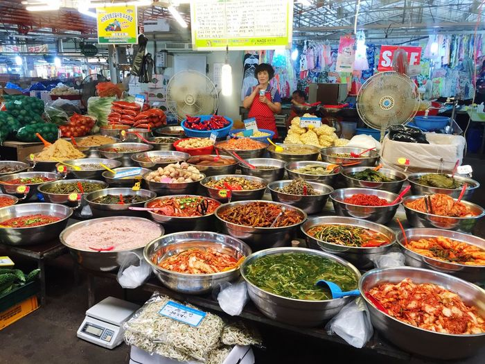 Market Stall Korean Food Korean Market