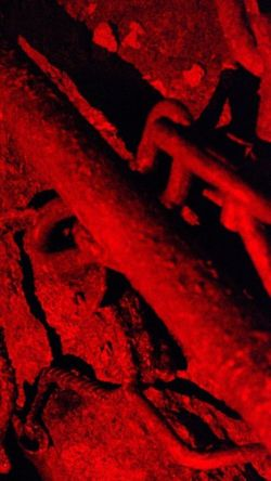 I see red Red Indoors  No People History Close-up Art And Craft Spooky The Past Rock Horror Ancient Fear Architecture Backgrounds Night Rock - Object