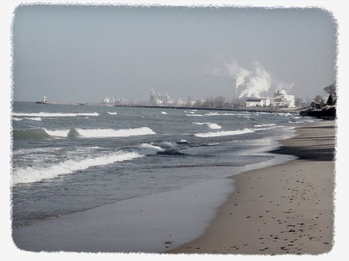 Industry Steel Mill The Region Indiana Winter Walks On The Beach Cold Days Lake Michigan Lakeshore Lake Waves