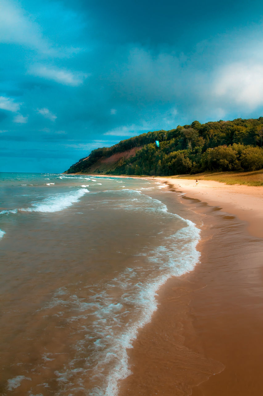 View Along Sandy Coastline