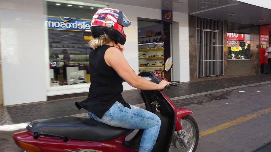 EyeEm Selects Young Women City Motorcycle Headwear Land Vehicle