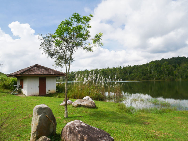 Cloud - Sky Tranquility Sky Outdoors Water Nature Day Landscape Architecture Built Structure Lake Tree No People Scenics Grass Building Exterior Rural Scene Beauty In Nature Thailand Thailand_allshots_nature Travel Photography Kaoyai
