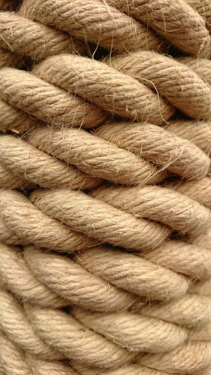 Rope Coiled Backgrounds Full Frame Pattern Textured  Close-up Braided Twisted Rough Intertwined Tied Fiber
