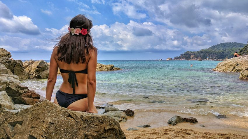 Beach Only Women Sea Sand One Woman Only Adults Only One Person Sky One Mature Woman Only Adult Vacations People Outdoors Dog Day Cloud - Sky Women Pets Water Nature Adult Beach Photography Watercolor Spaın Nature