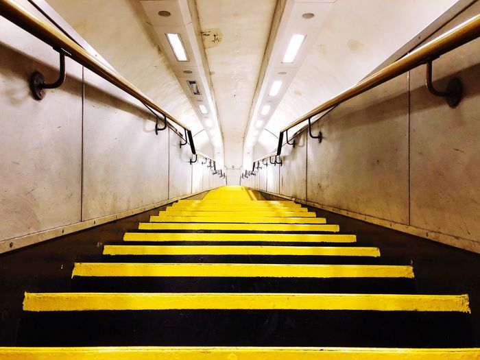 View of yellow stairs