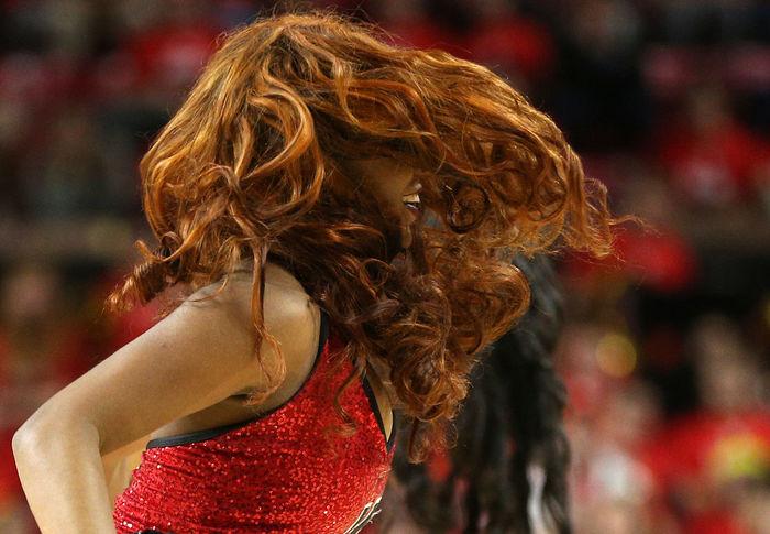 Mad hair Big Hair Hair Bare Arms Bouffant Cheerleader Curly Hair Messy Hair Red Curly Hair Red Hair Teeth Tinted Hair Untidy Hair