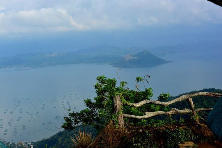 Famous Taal Volcano in Philippines Crater Lake Lost In The Landscape Beauty In Nature Landscape Mountain Nature Scenics Volcanic Landscape Volcano