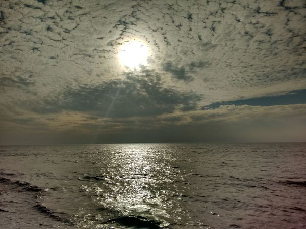 Beauty In Nature Calm Cloud Cloud - Sky Cloudy Horizon Over Water Idyllic Majestic Nature No People Non-urban Scene Outdoors Reflection Remote Rippled S Scenics Sea Seascape Sky Sun Sunset Tranquil Scene Tranquility Water