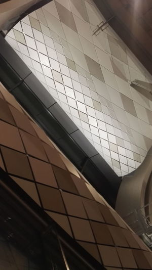 Architectural Design Architecture Architecture Architecture And Art Art Brown Building Atrium Built Structure Ceiling Day Gardermoen Geometry Grey Indoors  Low Angle View Modern No People Oslo Pattern Skylight