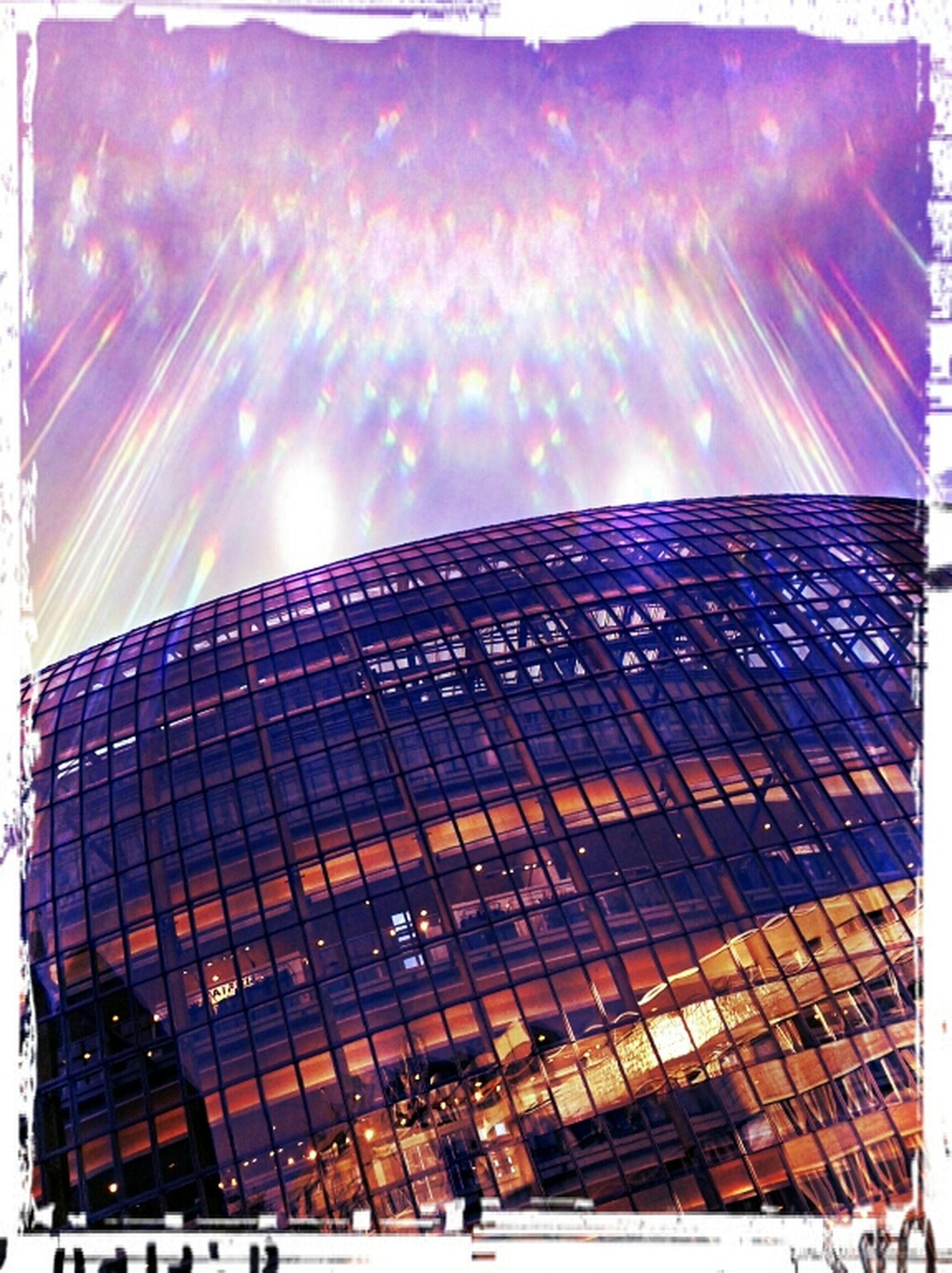 transfer print, architecture, built structure, building exterior, auto post production filter, city, sunlight, sky, modern, sun, sunbeam, outdoors, lens flare, low angle view, day, reflection, pattern, no people, skyscraper, sunny