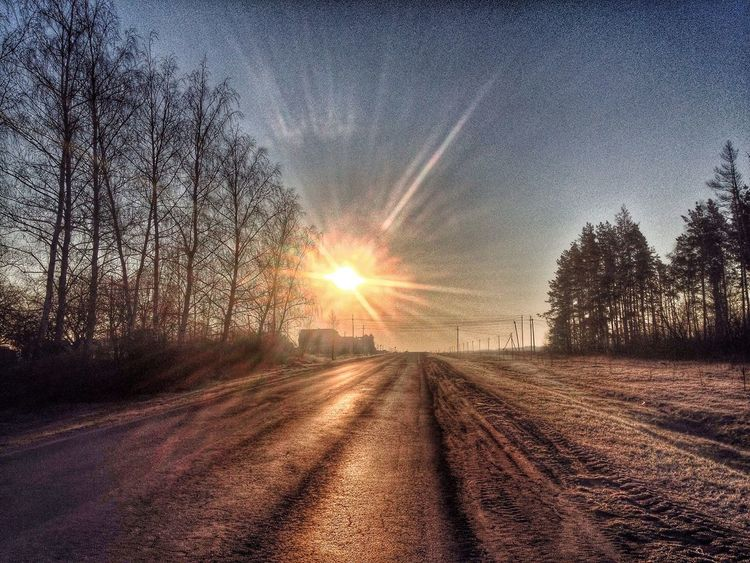 Morning Enjoying Life Home Sweet Home Zadonsk Sunset Way On The Road