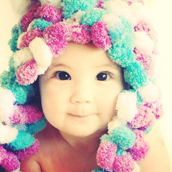 Baby Girl Little Lady Little Lady  Expression Child Childhood Children Photography Bonnet Colours
