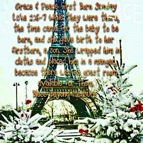 Grace & Peace First Born Sunday