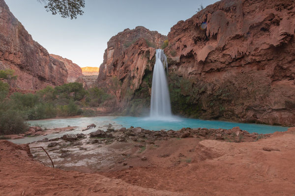 Arizona Beauty In Nature Blue Water Canyon Falls Grand Canyon Green Water Havasu Falls Havasupai Havasupai Falls Havasupai Waterfall Hiking Landscape Nature Outdoors River Rock - Object Scenics Utah Valley Water Waterfall Waterfalls