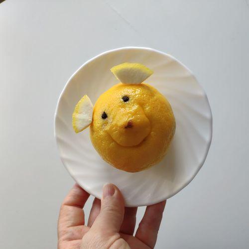 Pareidolia Humor Kidsart Lemon Springtime Vitamin C Citrus Fruit Human Hand Dessert Holding Close-up Sweet Food Food And Drink