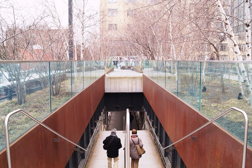 New York Highline Manhattan Chelsea Stairs Symmetrical Streetphotography