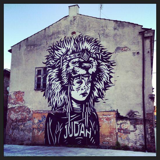 Blackandwhite Art Graffiti Krakow Poland