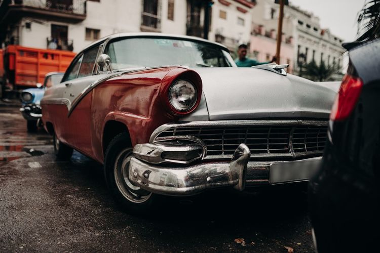 Good old timers Mode Of Transportation Car Motor Vehicle Transportation Land Vehicle Retro Styled Vintage Car Street