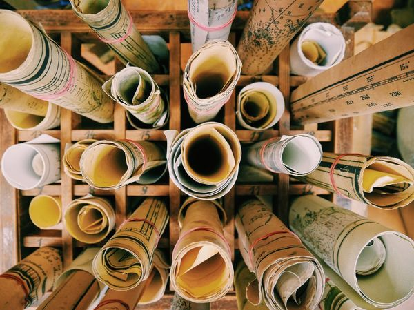 Arrangement Close-up Collection Group Of Objects Large Group Of Objects Map Maps No People Still Life Storage Variation