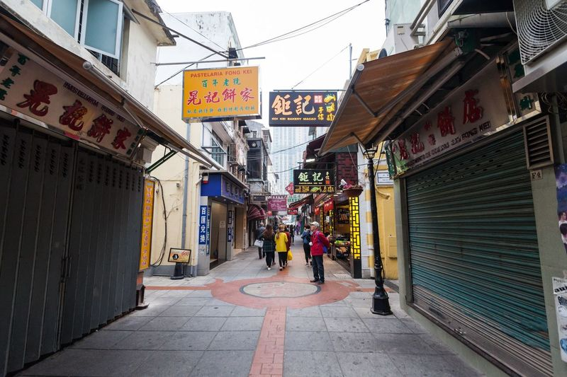 Holiday in Macau - Old Taipa Village Macao Adult Adults Only Architecture ASIA Building Exterior Built Structure Day Holiday Macao  Macao China Macau Macau, China Men Old One Person Outdoors People Real People Store Taipa  Text The Way Forward Vacation Village Women