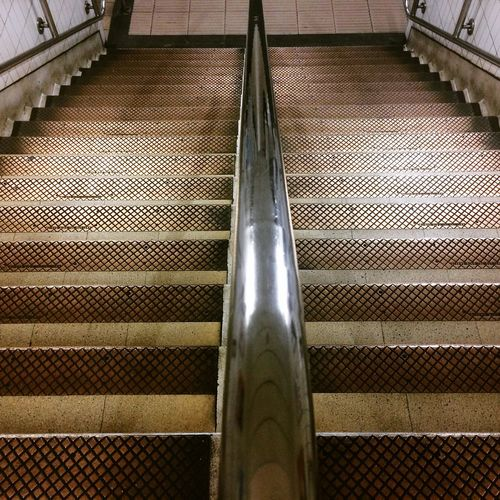 Copper  Stairs London Tube Alone