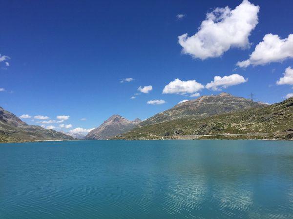 The Week On EyeEm Mountain Tranquil Scene Lake Blue Water Sky Clouds And Sky reflection Summer Berninapass Lago Bianco