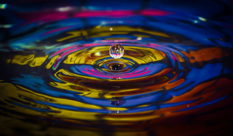 Watedrops Colorful Taking Photos Photoart Beauty In Nature Fragility Water Close-up Drop Refreshment Motion Rippled Splashing Droplet Splashing Abstract Backgrounds High-speed Photography Abstract Wet Backgrounds Impact