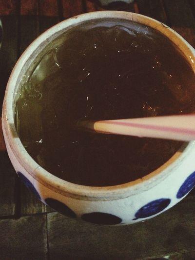 Hang out n drink lemon tea w my friend Lemontea Hanging Out