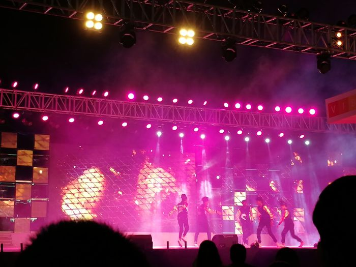 Celebration Of Young Talents Art And Culture Festival Dance Performance Colourful Background Vibrant Stage Decor Arts Culture And Entertainment Audience Performance Performing Arts Event Illuminated