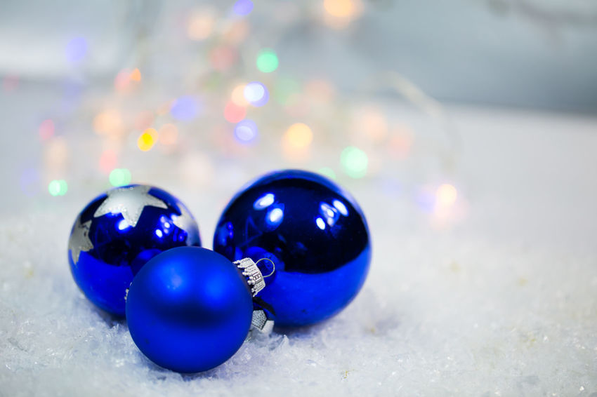 Ball Blue Celebration Christmas Christmas Decoration Christmas Ornament Close-up Decoration Focus On Foreground Holiday Indoors  Marble Marbles Multi Colored No People Selective Focus Shiny Sphere Still Life