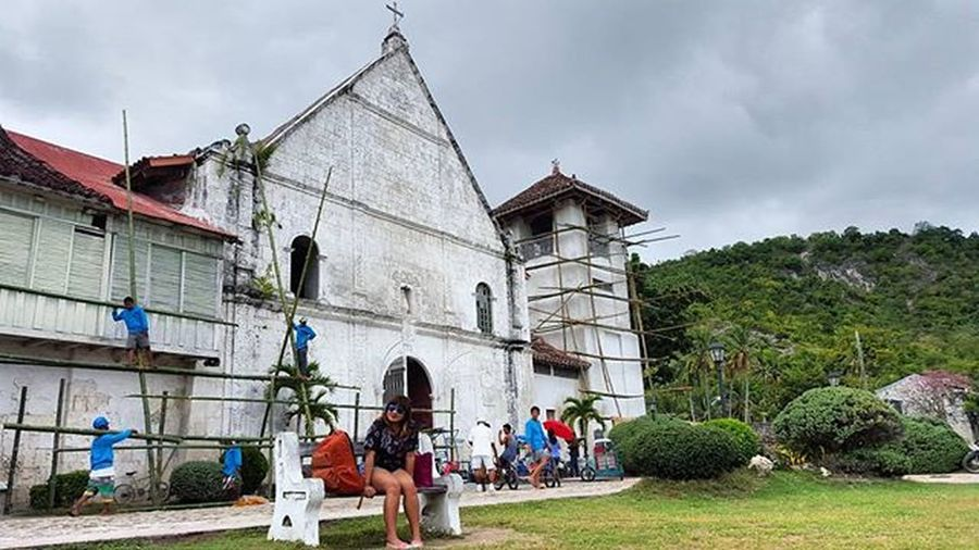 Patrocinio de Maria Church. Baroquearchitecture Coralstones Inlovewithheritage Wanderkat 2016travels Philippinearchitecture Spanishcolonial