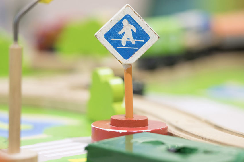Cross road sign - Traffic sigh toy, Play set Educational toys for preschool indoor playground (selective focus) Educational Toys Sign Communication Focus On Foreground Road Sign Close-up No People Road Safety Shape Day Wood - Material Blue Outdoors Geometric Shape Green Color Nature Protection Security Warning Sign Guidance Wooden Toy Wooden Toy Block Cross Road Sign