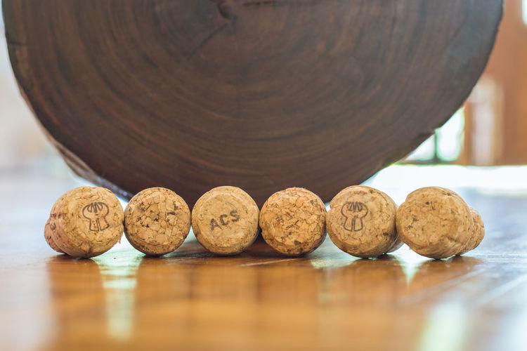 Wine corks in