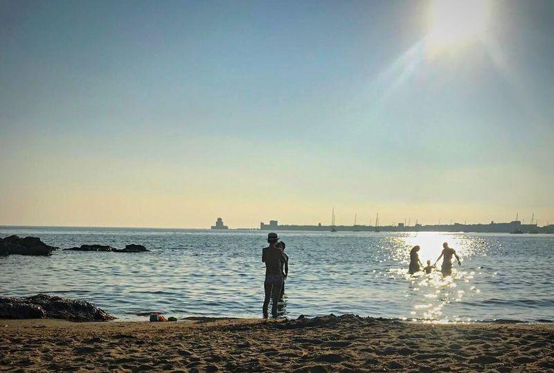 Greece Kotronakia Methoni Beauty In Nature Silhouette Sunlight Horizon Over Water