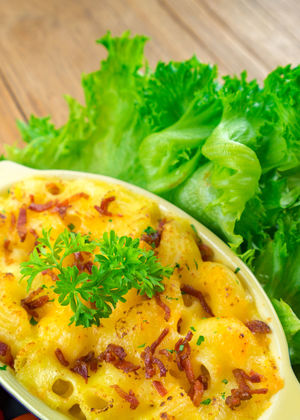 macaroni and cheese homemade food Arugula Close-up Day Food Food And Drink Freshness Healthy Eating Herb Indoors  Mint Leaf - Culinary No People Ready-to-eat