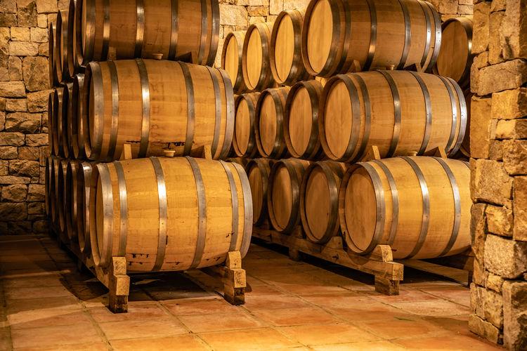 barrels in a