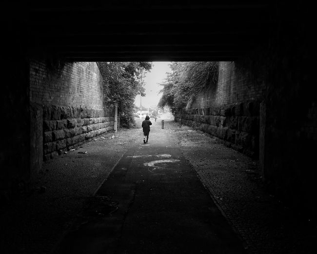 Out of the darkness. Silhouette Blackandwhite Haunted Monochrome Photography Scotland Black And White Photography Bnw_collection Bnw_captures Black And White Contrast Bnw Shadows Highlights Walking Pocketcamera Compact Digital Camera