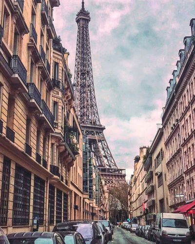 Eiffel Tower Architecture Car Building Exterior Built Structure City Transportation Land Vehicle Day Mode Of Transport Outdoors No People Sky