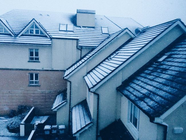 Winter Wintertime Houses Street White Cold Cold Days Dublin Snow Throwback