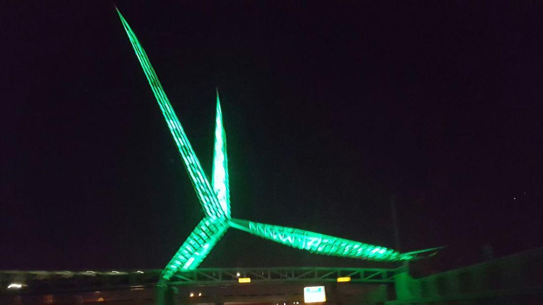 Oklahoma City Scissor Tail Night Illuminated Neon Road City Outdoors