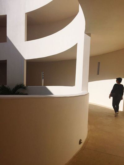 Light Light And Shadow Architecture Museum Ramp Real People Built Structure Indoors  Architecture One Person Modern Day