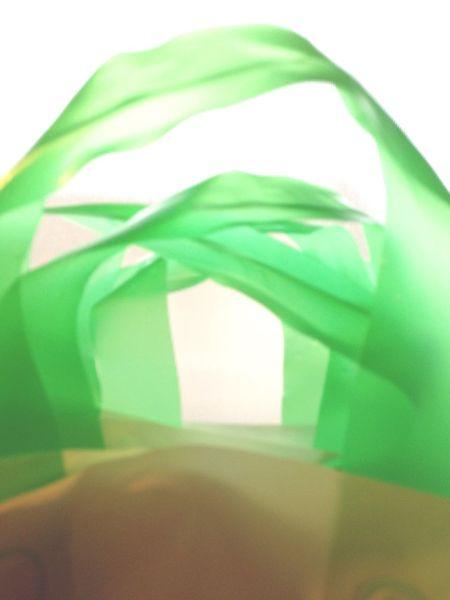Plastic Shoppingbag Colors Green