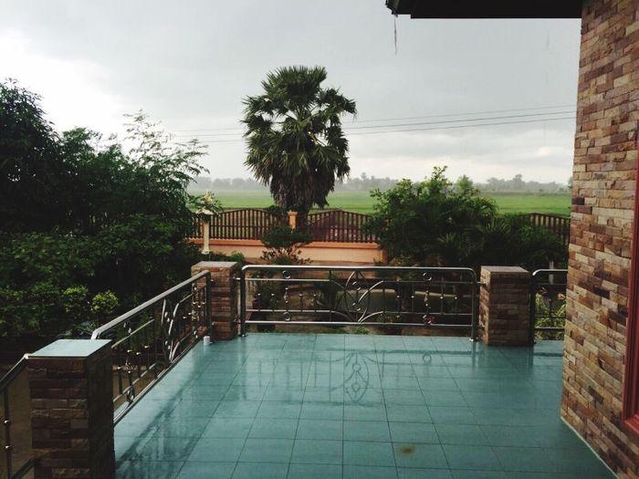 Hello World Taking Photos Rainy Day