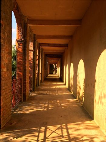 The Way Forward Architecture Built Structure Arch Sunlight Architectural Column Corridor No People Relaxing Reflection Shadow
