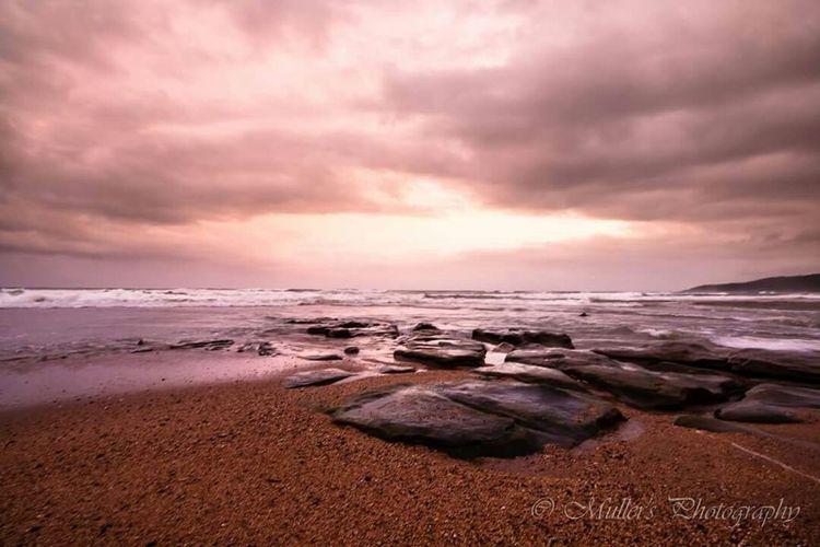 Sand Waves And Rocks Seascape Rivermouth Tugela Mouth