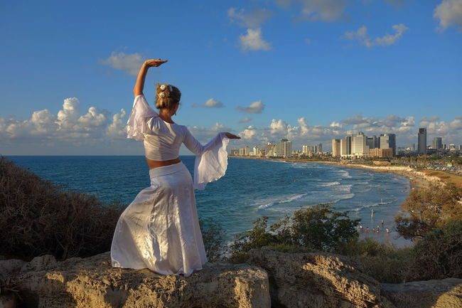 Tel Aviv view 💙 Blue Casual Clothing Cloud - Sky Dancer Day Full Length Israel Outdoors People And Places Sea Sea And Sky Seascape Seascape Photography Seashore Seaside Sky Standing Summer Nature Beauty In Nature Travel Destinations Travel Photography Water Women Around The World