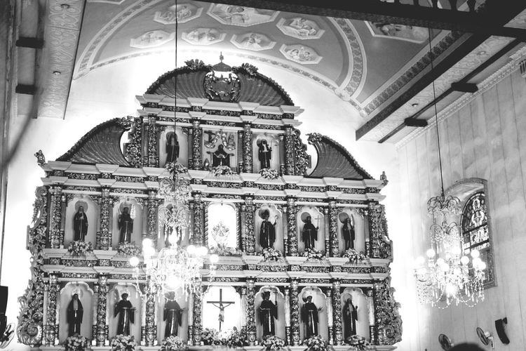 Church Philippines Blackandwhite Altar Saints