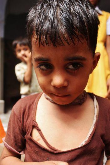 Child Childhood Cute Enfant Garçon Headshot Hindu Human Face India Indian Indian Child Innocence Portrait Shy Timide